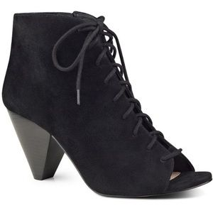 Black booties cone heel comfortable booties